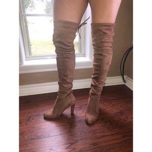Shoes - NWOT thigh high drawstring boot